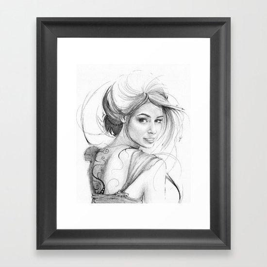 Beautiful Fairy Drawing Framed Art Print