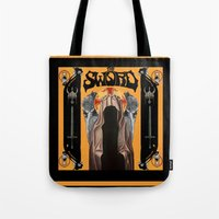 sword Tote Bags featuring The Sword by Freddie Meagher