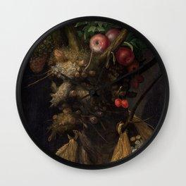 Giuseppe Arcimboldo Four Seasons In One Head Wall Clock