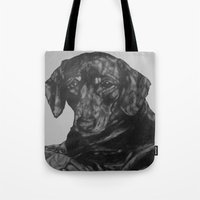 dachshund Tote Bags featuring Dachshund by Natasha Maiklem