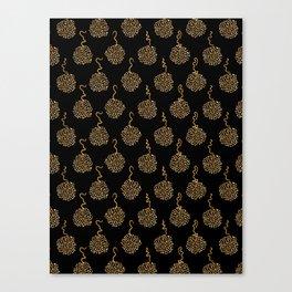 Trendy Polka Dot Pompom Canvas Print