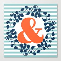 ampersand Canvas Prints featuring ampersand by ArigigiPixel
