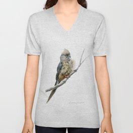 Speckled Mousebird by Teresa Thompson Unisex V-Neck