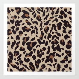 Brown Leopard Print Art Print