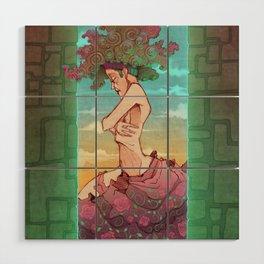 Morning Girl Wood Wall Art