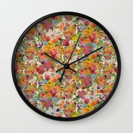 FLORAL // LIFE OF FLOWERS Wall Clock