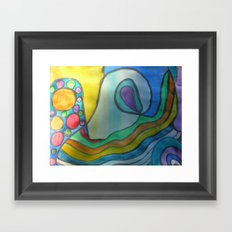 Fear of Being Really You Framed Art Print
