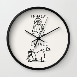 Inhale Exhale Shih Tzu Wall Clock