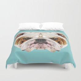 English Bulldog // Blue  Duvet Cover