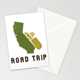 California Camping Road Trip Stationery Cards