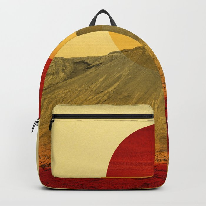 Warm abstraction Backpack
