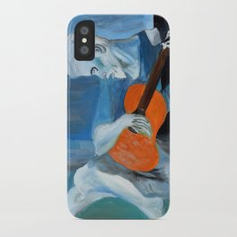 Picasso's Blue Man  iPhone Case