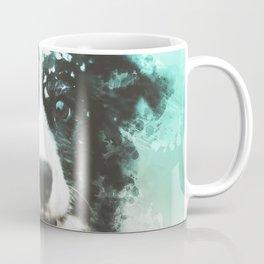 Border Collie Digital Watercolor Painting Coffee Mug