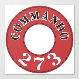 273 - Commando Engine Label Canvas Print