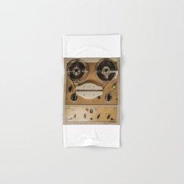 Vintage tape sound recorder reel to reel Hand & Bath Towel