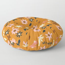 Fall flowers pattern Floor Pillow