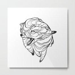 Vaporfox Metal Print
