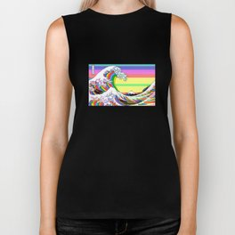 The Great Wave off Kanagawa (Colorful) Biker Tank