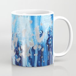 Blue waterfall encaustic painting Coffee Mug
