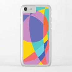 Geometric Beach Ball 2 Clear iPhone Case