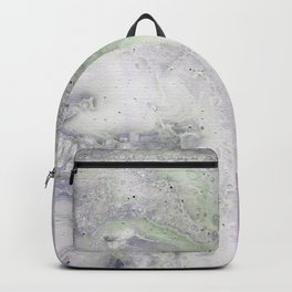purple and green Backpack