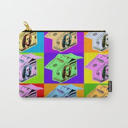 Poster with dollars house in pop art style Carry-All Pouch