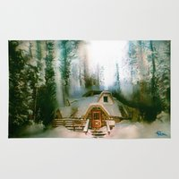 hobbit Area & Throw Rugs featuring HOBBIT HOUSE by FOXART  - JAY PATRICK FOX