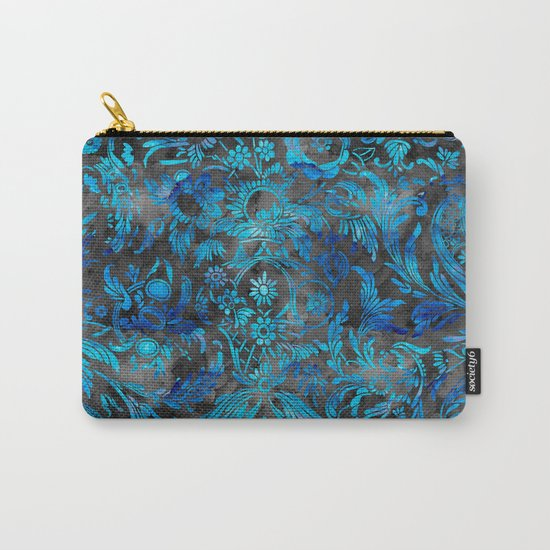 Watercolor Damask Pattern 07 Carry-All Pouch