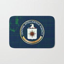 CIA Flag Grunge Bath Mat