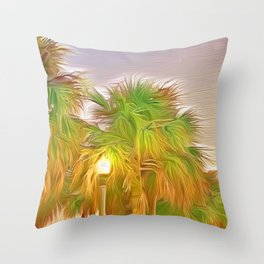 Palms Against the St. Pete Sky Throw Pillow