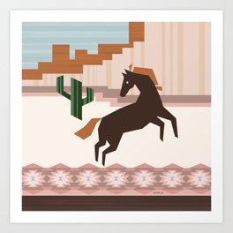 Wild Desert Horse Art Print