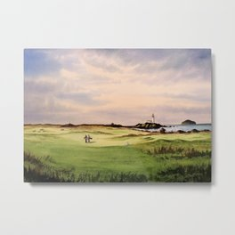 Turnberry Golf Course 12th Hole Metal Print