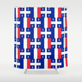 Mix of flag : France and Quebec Shower Curtain