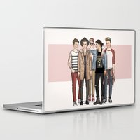 one direction Laptop & iPad Skins featuring One Direction by vulcains