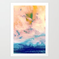 outer space Art Prints featuring OUTER SPACE by u t a