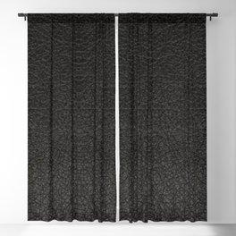 Realistic Black Leather Print Blackout Curtain