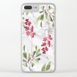 Berries Tale Clear iPhone Case