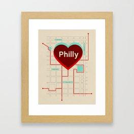 Philly In Transit Framed Art Print