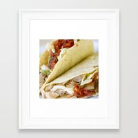 taco Framed Art Prints featuring Taco  by Spotted Heart