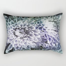 Blue Mums Rectangular Pillow