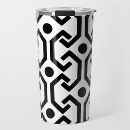 Ethnic Pattern (White) Travel Mug