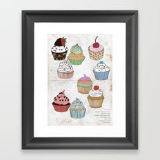 Cupcake dreaming Framed Art Print