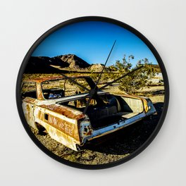 USA: abandoned town in Nevada Wall Clock