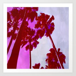 Palms, Pink - Lot 1 Art Print