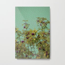 Rowan tree and purple polka dots Metal Print
