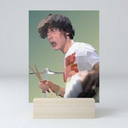 Low Polygon Portrait of Keith Moon Mini Art Print