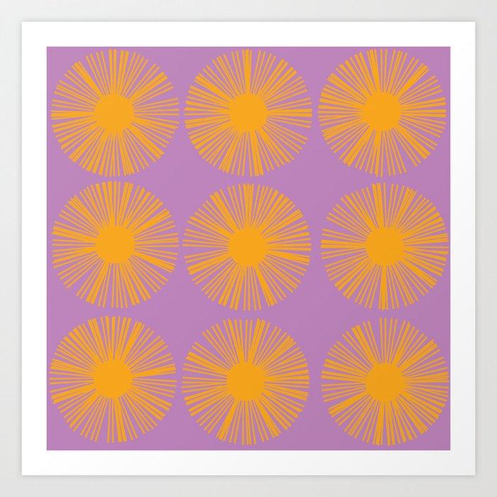 Retro Spectrum Purple Art Print