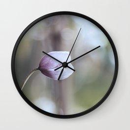 Makro_Clematis_2 Wall Clock