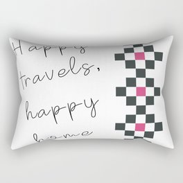 Happy travels, happy home Rectangular Pillow