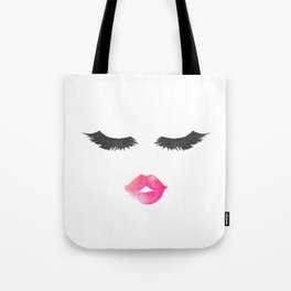 Lashes and Lips Tote Bag